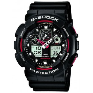 Наручний годинник Casio G-Shock Ga 100 black white edition